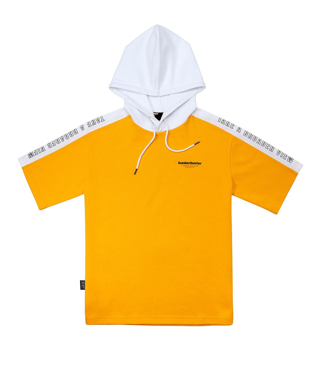 벙커버스터(BUNKERBUSTER) 오버핏 후드 반팔 티셔츠