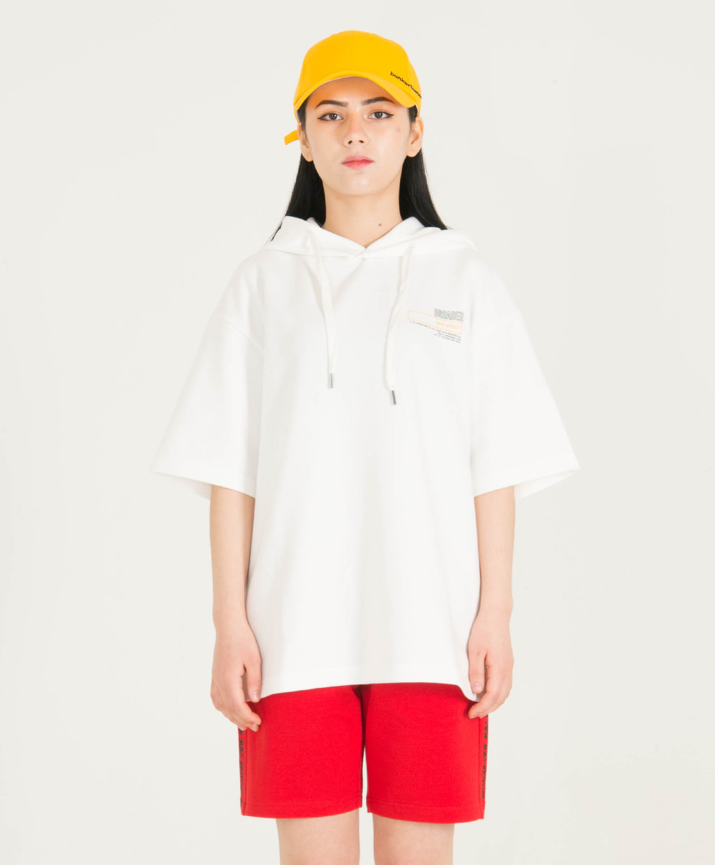 벙커버스터(BUNKERBUSTER) 후드 반팔 그래픽 티셔츠