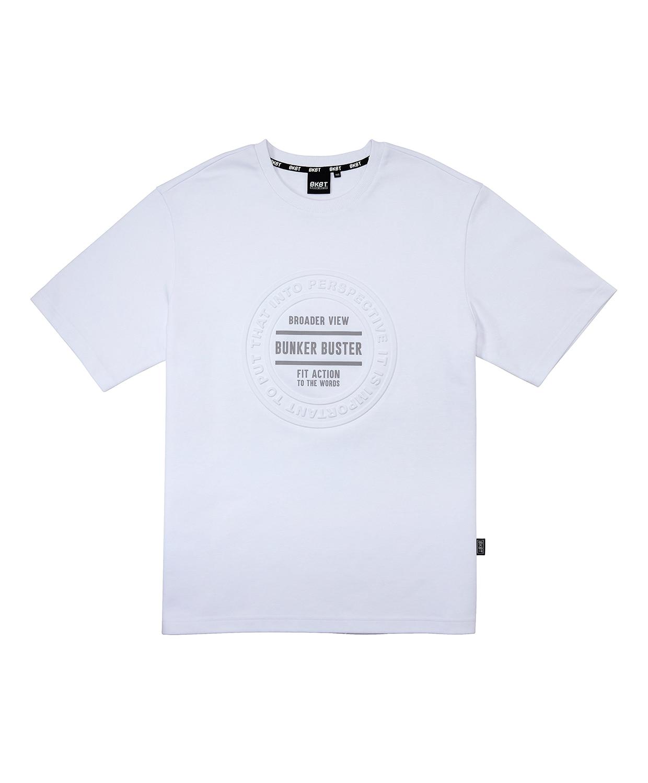 벙커버스터(BUNKERBUSTER) 엠보 그래픽 반팔 티셔츠