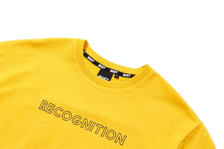 벙커버스터(BUNKERBUSTER) 워딩 프린트 반팔 티셔츠 YELLOW (MK7TU429-012)